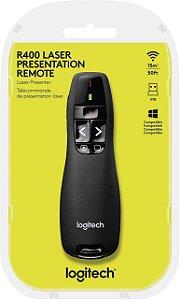 Apresentador de Slides Laser Multimidia 6 Botões R400 Logitech