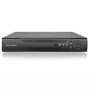 DVR 16CH AHD/L NVR HVR Híbrido Digital e Analógico AHDL IP MULTILASER
