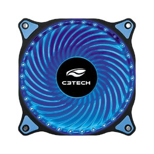 Cooler Gabinete C3Tech 120x120mm FT-L130BL LED Azul Storm Series