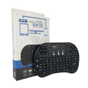 Mini Teclado Wireless ABNT2 Air Mouse Touchscreen KP-2031A Knup