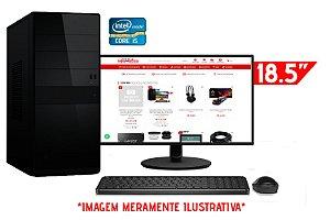 """Computador Completo Intel Core i5 650 + Placa Mãe ZX-H55 1156 + Memória 4GB DDR3 + SSD 128GB + Monitor AOC 18.5"""" + Teclado e Mouse Básicos"""