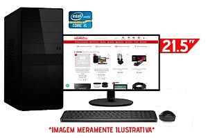 """Computador Completo Intel Core i5 650 + Placa Mãe ZX-H55 1156 + Memória 4GB DDR3 + SSD 128GB + Monitor AOC 21.5"""" + Teclado e Mouse Básicos"""