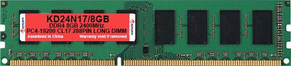 Memoria DDR4 8GB 2400MHz KeepData