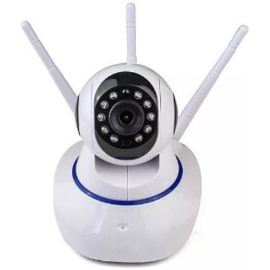 Camera Ip Wifi Com 3 Antenas Onvif Hd P2p 360°