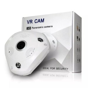 Câmera Ip Panorâmica 360° Wifi Segurança HD Wireless VRCam