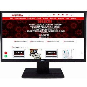 "Monitor Acer LCD V206HQL 19.5"" VGA/HDMI 5ms Preto"