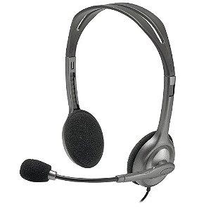 Headset Estéreo Preto P3 H111 Logitech