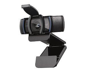 Webcam 1080p 30Fps c/Suporte Fixador e Capa de Segurança C920s Logitech