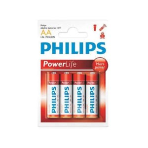 Pilha Philips Alcalina 1.5V Long Power LR6P4B
