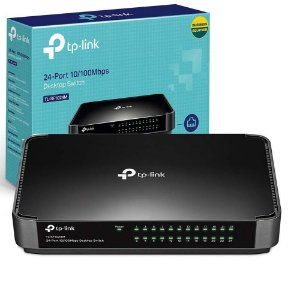 Switch de Mesa 24 Portas Fast 10/100 Plug and Play TL-SF1024M TP-Link