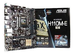 Placa Mãe ASUS 1151 H110-M DDR4 VGA/HDMI M.2 6ªGer.