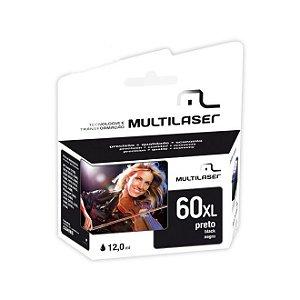 Cartucho Multilaser Compatível 60XL 12ml