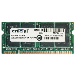 Memoria Notebook DDR2 2GB 667MHz Crucial