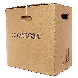 Cabo de Rede CAT6 Commscope 100% Cobre Homologado Azul (50 Metros)