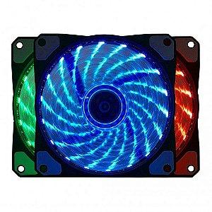 Cooler Gabinete 120x120mm Bluecase BF-08RGB RGB 6 Pinos