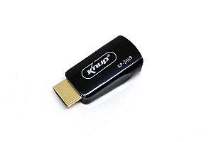 Conversor HDMI x VGA c/Audio P2 KP-3469 Knup