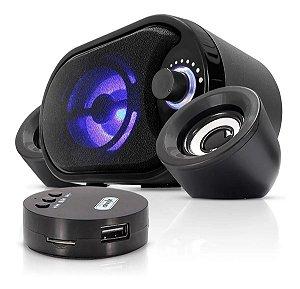 Caixa de Som Bluetooth Subwoofer 2.1 11W Rms Radiodifusão KP-6018BH