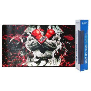 Mouse PAD Gamer Grande Ryu Street FIghter 700x350mm Emborrachado MP-7035C Exbom