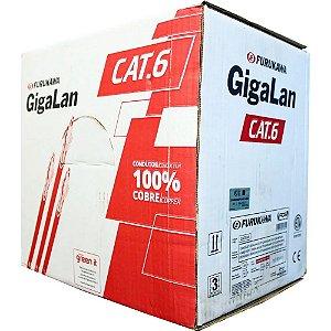 Caixa de Cabo de Rede CAT6 Gigalan 305M Homologado UTP 100% Cobre Furokawa