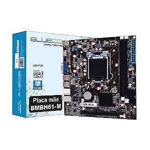 Placa Mãe LGA 1155 BMBH61-M DDR3/1600 Fast BLUECASE 2° e 3º Geração