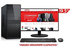 """Computador Completo Intel Core i3 9100F + Placa Mãe PCWare H310G + Memória 4GB DDR4 + SSD 128GB + Placa de Vídeo 1GB + Monitor LG 19.5"""" + Teclado e Mouse Básicos"""