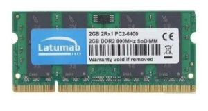 Memoria Notebook DDR2 2GB 800MHz Latumab