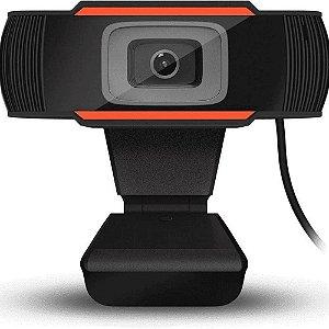 Webcam BrazilPC V5 HD 720P Preto e Laranja com Microfone