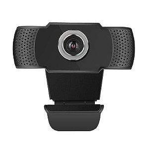 Webcam BrazilPC C310 Full HD 1080P C/Microfone Preto Vermelho