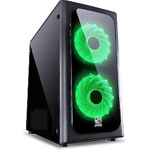 Gabinete Gamer ATX MID Tower Venus c/2 Coolers Verde VENPTAZ2FCA PCYES