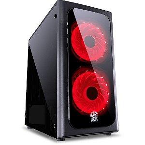 Gabinete Gamer ATX MID Tower Venus c/2 Coolers Verde VENPTVM2FCA PCYES