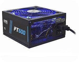 Fonte Gamer ATX 600W Full Range PFC c/LED Azul Gaming Master K-Mex