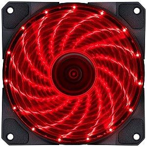 Cooler Gabinete 120x120mm MyMax Storm V2 LED Vermelho