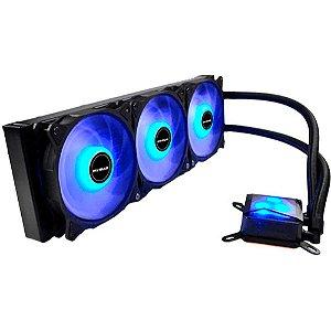 Water Cooler Algor Triple Fan 360MM Intel/AMD LED Azul MyMax