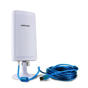 Adaptador USB Wireless Antena Outdoor 14DBi Cabo 4.5m Lafalink