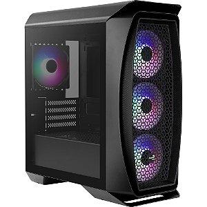 Gabinete Gamer Mini Tower ATX C/4 Fans RGB Lateral Vidro Mini Frost Aerocool