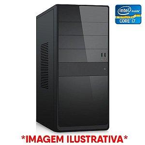 COMPUTADOR CIA CORPORATE I, INTEL CORE I7 3770, PLACA MÃE H61, MEMORIA 16GB DDR3, SSD 512GB, GABINETE BASICO PRETO