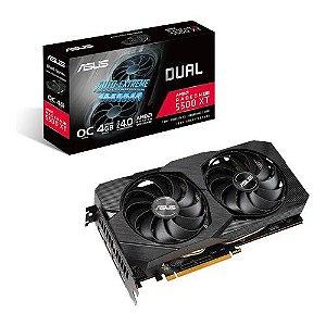 Placa de Vídeo AMD RX 5500XT 8GB OC DUAL FAN GDDR6 FREESYNC HDR DUAL-RX5500XT ASUS
