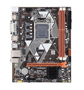 Placa Mãe LGA 1150 M-ATX VGA/HDMI/DVI NVME 10/100/1000