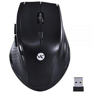 Mouse Sem Fio USB Ergonômico 1200dpi Preto DM110 Vinik