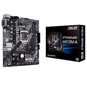 Placa Mãe Asus Prime 1200 mATX H410M-A M.2 NVME USB 3.0 HDMI VGA DVI 10a Ger.