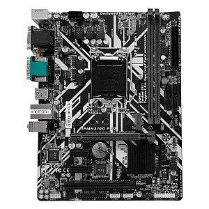 Placa Mãe PCWare mATX H310G PRO Gaming DDR4 M.2 HDMI DVI VGA 9ª Ger Intel