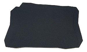 Mouse Pad Básico Emborrachado Preto 20x29cm