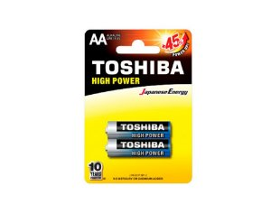 Pilha Alcalina Toshiba 1,5V AA 2 Unidades LR6GCP BP-2CN