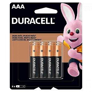 Pilha Duracell Alcalina MN2400B8 AAA 8 Unidades