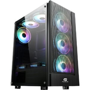 Gabinete Gamer Mid Tower mATX Fita 3 Coolers Cruiser Fortrek
