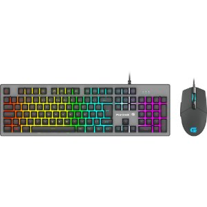 KIT Teclado + Mouse Semi Mecânico USB Gamer LED Rainbow BK-G550 Exbom