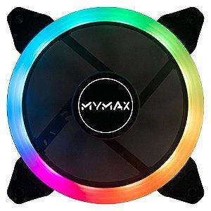 Cooler Gabinete 120x120mm MyMax Aura RGB Rainbow Fixo