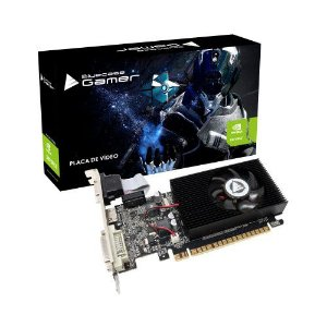Placa de Vídeo Geforce GT 610 2GB DDR3 64Bits Low Profile DVI HDMI VGA Bluecase