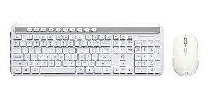KIT Teclado + Mouse Sem Fio Branco USB CS500 HP