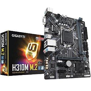 Placa Mãe Gigabyte mATX H310M M.2 2.0 DDR4 8ª 9ª Ger Intel